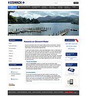Tourism website, keswickplus.co.uk