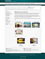 eCommerce website, viridiangallery.co.uk